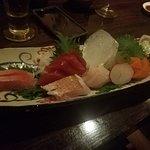 Fresh selection of sashimi. East Coast oysters were amazing!