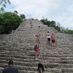 As piramides em Coba...