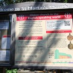At the gate of St Martin's Church