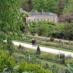 Formal gardens overlooking the hall
