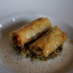 Courgette de Nice en risotto, homard
