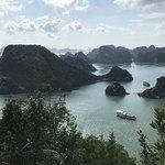 郵輪導覽 Bai Tu Long Bay 山頂的景觀
