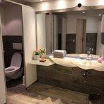 Sparking Clean Restrooms Downstairs