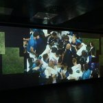 Video displaying Zidane after winning as a manager