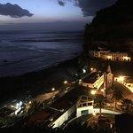 vue nocturne depuis la terrasse