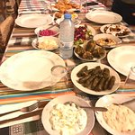 The Cypriot dinner - The chicken and lamb skewers were served later.