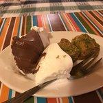 Baklava with ice cream. Melt in mouth baklava