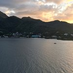 sunset leaving Pago Pago