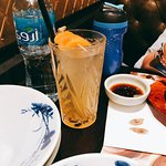 Kamar Al Din (Apricot) juice which is just colored water