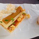 Dessert rhubarbe et crème à la fleur d'oranger