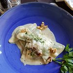 Ravioli with walnut sauce