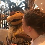 Mascot for the hotel at breakfast