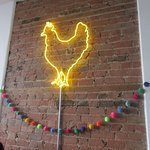 Roost neon sign