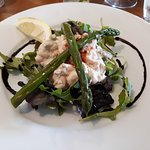 Asparagus, Avocado and Prawn in Marie Rose Sauce