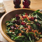 Salads with homemade dressing