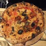 Parmigiana Part Pizza - The salsiccia was amazing!!