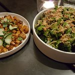 Kale, Pimento Cheese and Toasted Almonds / Pork Shoulder