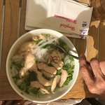 Chicken pho was delicious