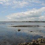 Вид с мола на бухту в отлив