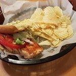 A grilled chicken sandwich