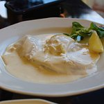 Fresh herring in white sauce