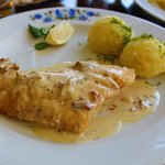 perch/pike with mashed potatoes