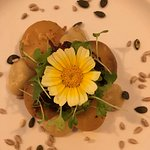 Butternut squash and seeds as a starter
