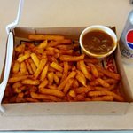 Large fries and gravy.