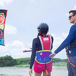 We provide all of the kiteboarding equipment and are right there with you every step of the way!
