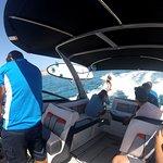 boat trip and fun wake surf