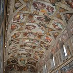 The roof with the works of Michelangelo