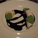 main - fish with squid ink