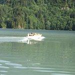 Nikita Kruchev's power boat on Lake Ritsa (Lake Rico)
