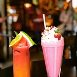 Tropical juice and the red velvet cake shake - the red velvet cake shake is phenomenal!