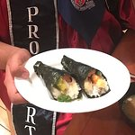 Hand Roll Sushi specially made by chef Genji