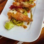 Petisco de peixe co Guacamole