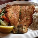 West Virginia Trout with veggies and jasmine rice