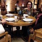Jantar com irmãs Ribeiro e Carneiro