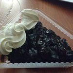 Fresh blueberry pie to go!