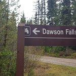 Dawson Falls sign