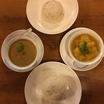 Peanut curry and Pumpkin curry