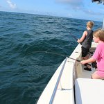 My kids are 11 and 12 and had the best experience!! They absolutely loved this fishing trip!