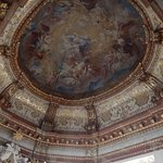 A dome fresco inside Upper Belvedere Palace