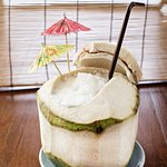 Our fresh coconut juice serve fresh from the coconut.