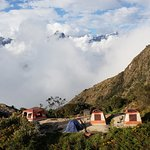 "Camping at Phuyupatama, ""The place in the clouds"""