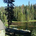 small lake in morning sun