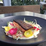 Vancouver Island King Salmon on the patio...what a treat!