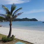 View from balcony of beachfront villa