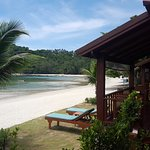 Sun loungers for every beach front villa