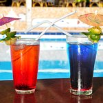 Poolbar with drinks